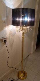 Luxury Gold and Black Lamp x2