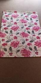 NEXT Floral Grey n Raspberry Roman Blind 120cm w x 160cm drop