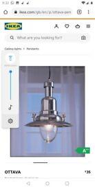 IKEA Ottava aluminium pendant lamp