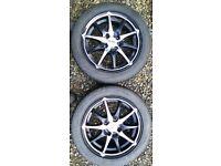 4 Dotz Vauxhall Corsa Alloys with 195 60 15 Toyo Proxes 4. Tyres as new. Alloys clean.