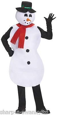 Damen oder Herren Erwachsene Jolly Schneemann Weihnachtskostüm - Schneemann Kostüm Damen