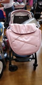 Silver Cross Baby Travel system . Car Seat with Isofix,Moses basket , car seat and pram