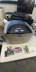 Fargo DTC400 ID Card color  Thermal Printer   Ethernet Defective