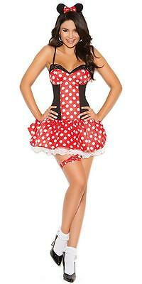 Elegant Moments 3-pc Miss Mouse Halloween Cosplay Costume S, M, L](Missy Mouse Halloween Costume)