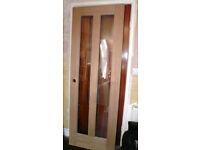 Vermont Internal 2 Panel Glazed Oak Door - New
