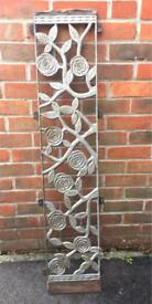 Cast iron Rose garden bench back rest or plant climber