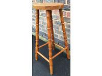 Stool 69 cm Tall Wooden Industrial Kitchen/Bar Stool