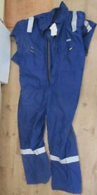 (Brand new) Flame retardant boiler suit with reflective strips