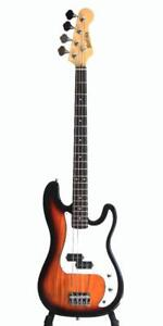 Bass Guitar 4 String for beginners Sunburst iMEB808 Full size