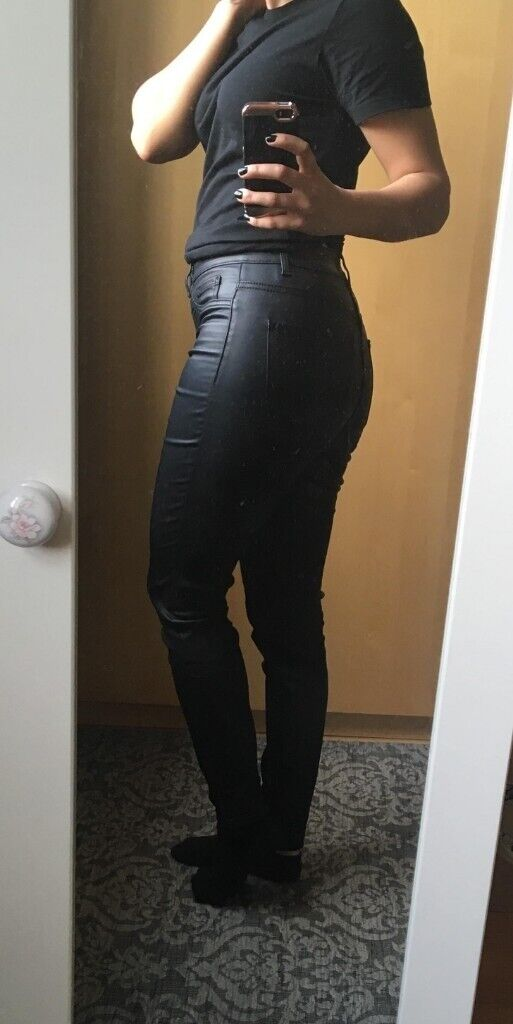 website for discount limited style wholesale outlet New Look Faux Leather jeans | in Surrey Quays, London | Gumtree
