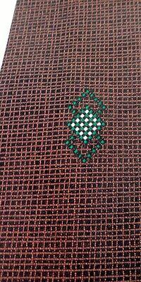 1960s – 70s Men's Ties | Skinny Ties, Slim Ties 1960s Rockabilly 100% Acetate Tie Necktie Copper Criss Cross Geometric Diamond $8.05 AT vintagedancer.com
