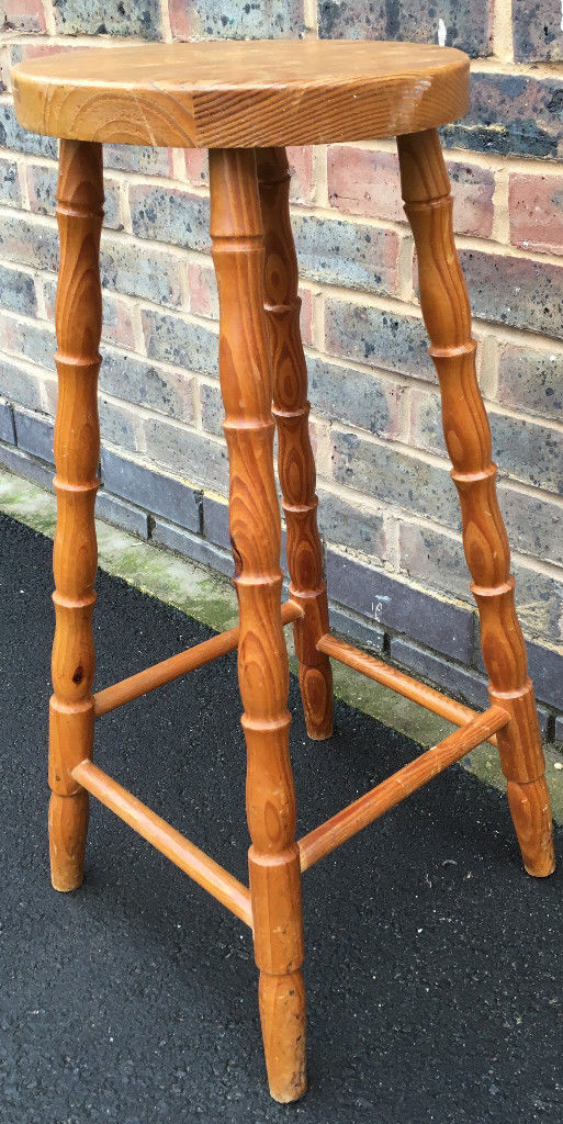 Stool 69 cm Tall Wooden Industrial Kitchen/Bar Stool