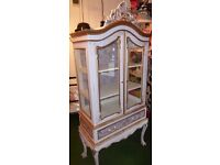 Unique Designer Off White Armoire Cupboard Sideboard French Crested shabby chic