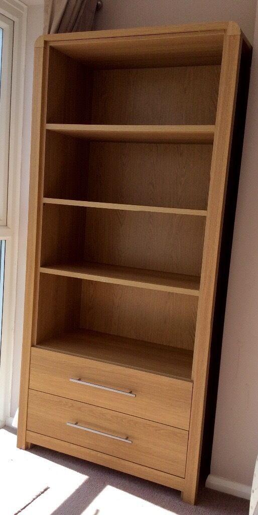 Heart Of House Elford Bookcase Oak Effect