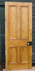 Reclaimed Victorian Pine Door