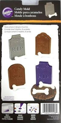 Wilton Candy Mold Tombstones Bones Halloween Treats Cupcake Decor](Bones Cast Halloween)