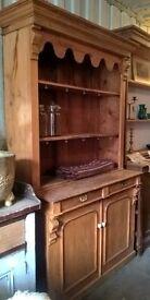 Victorian Pine Two Part Dresser