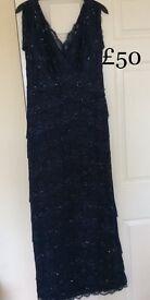 Debut Size 12 midnight blue evening/cocktail dress