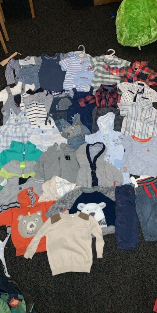 e43110308008 3-6 month baby biy bundle over 50 items