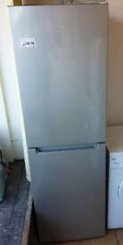 Silver Hotpoint SMX85T Frost free Fridge freezer 6 foot 3 high x 60 cm wide