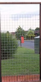 8 SHEETS HEAVY GALVANISED WELDED WIRE FOR FENCE OR CAGE 7X4 FEET, GOOD CONDITION CAN DELIVER