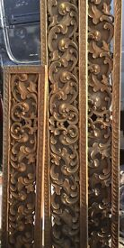 Fabulous old carved solid wood panels