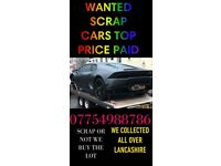 *TOP PRICE PAID * SCRAP CARS WANTED FROM NON RUNNER / RUNNER ACCIDENT DAMAGE MOT FAILURE