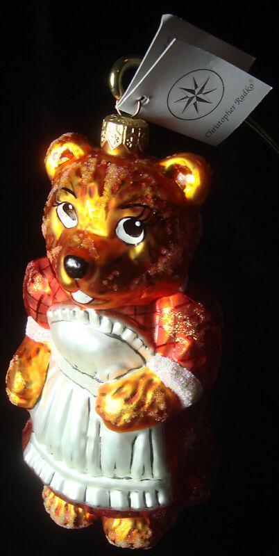 CHRISTOPHER RADKO CHRISTMAS ORNAMENT MAMA BEAR 98-334-0 FROM HONEY BEAR FAMILY