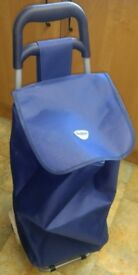 Shopping Trolley in good condition! blue, folding, 47L