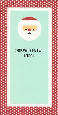 Christmas Greeting Card MONEY HOLDER, Santa Wants The Best For (Best Christmas Greeting Cards)