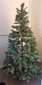 6ft Artificial 'Snow Alps Spuce' Christmas Tree - Snow Tips & Few Pinecones