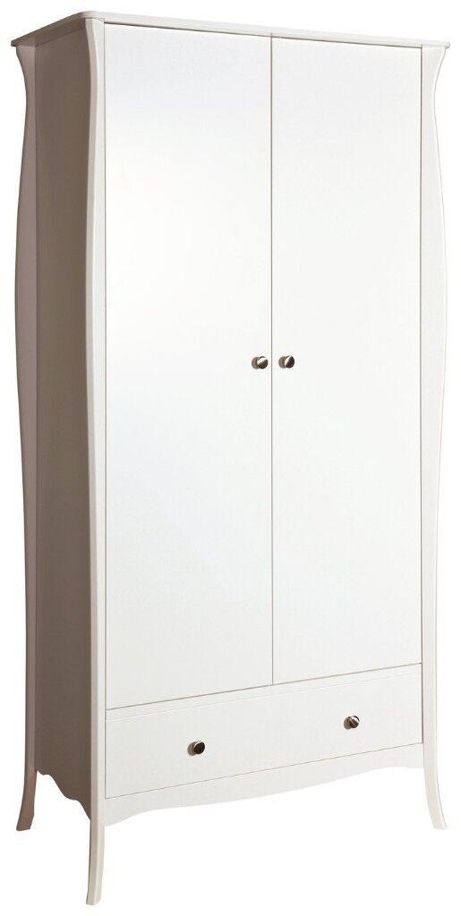14d8ffb9945 EX DISPLAY Argos Home Amelie 2 Door 1 Drawer Wardrobe - White ...