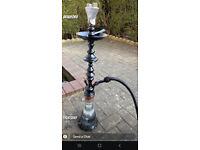 Limited Khalil Mamoon BLACK SHAREEF Shisha Hookah Pipe - 100% Authentic and Genuine