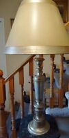SILVER GILT TABLE LAMP