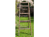 Vintage wooden pair of ladders, ideal for upcycling shelves or outsized towel rail