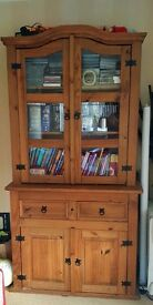 Large Wooden Cabinet, great condition. Can be used as two separate compartments