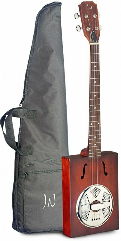 JN Guitars Puncheon 4-String Acoustic Cigar Box Guitar w/ Gig Bag - Cask Burst