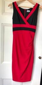Ladies Red & Black Bodycon dress. Size 8/10.