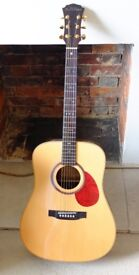 Freshman FA400D acoustic guitar - fantastic condition with hard case