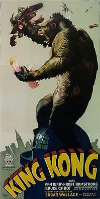 King Kong 3 Sheet Movie Poster 1933 Fine Art Reproduction S2 Lithograph