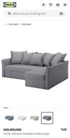 IKEA holmsund sofa bed grey