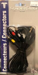 Universal Camcorder AV cable, 3 audio + Aux cable $15 for all