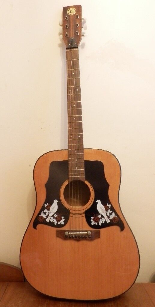 Vintage Kay Acoustic Guitar Model K550 with Dove Pickguards, Made in Italy  £75 | in Birkenhead, Merseyside | Gumtree