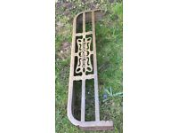 Beautiful Victorian Traditional Brass Range Fender With Home Sweet Home Logo