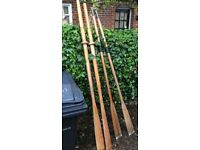 2 pairs of oars for rowing boat