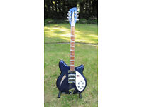 Beautiful 2015 Rickenbacker 370/12 Hollow Body 12-String Electric Guitar in Midnight Blue