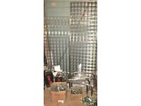 Assorted Gridwall Chrome Panels And Fittings. Retail Shop, Display, Market Stall, Exhibitions. VGC.