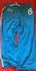 Jack Wills blue loose fit sweats, size Large