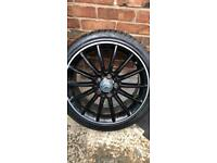 MERCEDES CLA A CLASS A45 AMG Genuine 18 INCH ALLOY WHEELS X 4 With New Tyres.