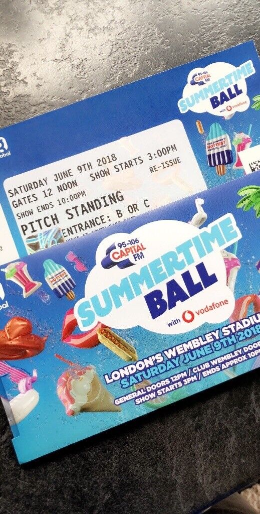 2x Capital Summertime Ball Pitch Standing Tickets  £130 For Both! | in  Brighouse, West Yorkshire | Gumtree